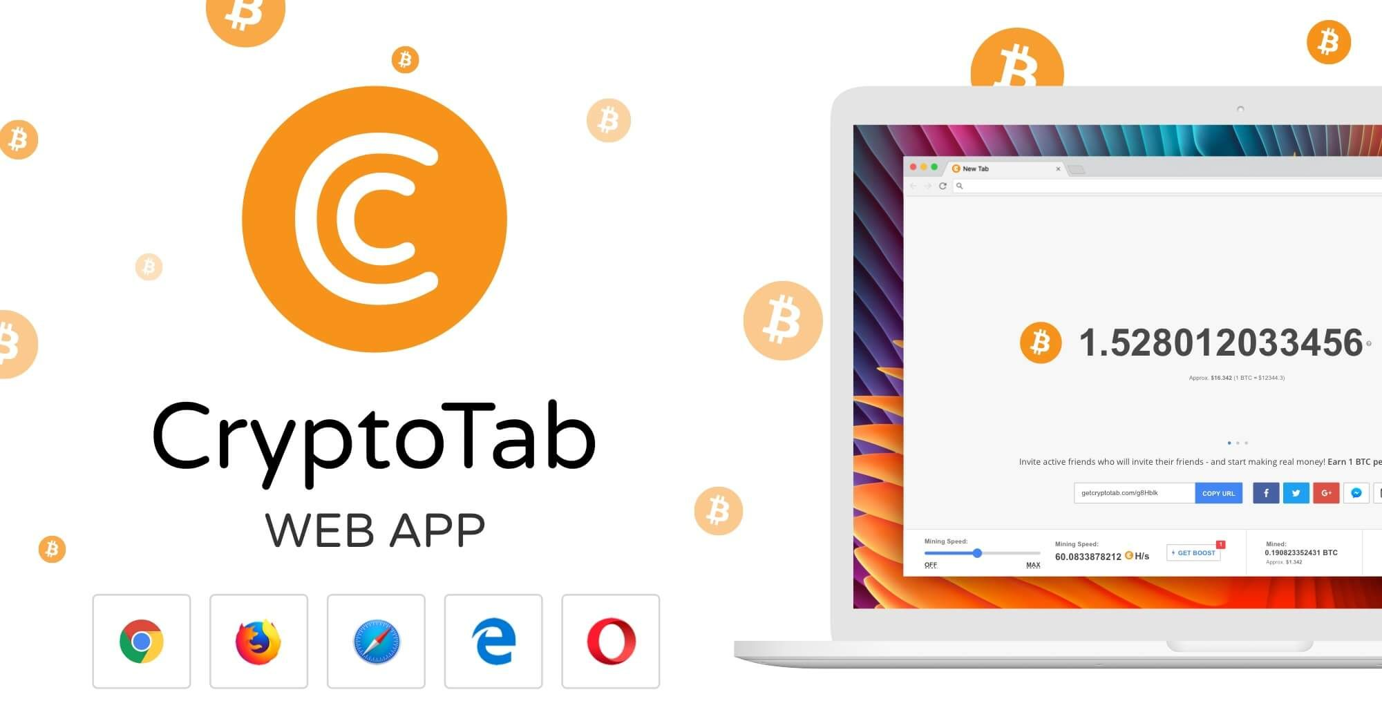 Invite new users to try CryptoTab browser with your