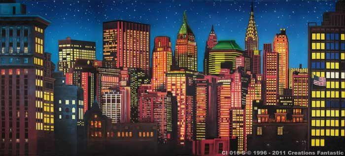 Backdrop Ci 016 S New York Skyline 2 New York Theme Backdrops New York Skyline