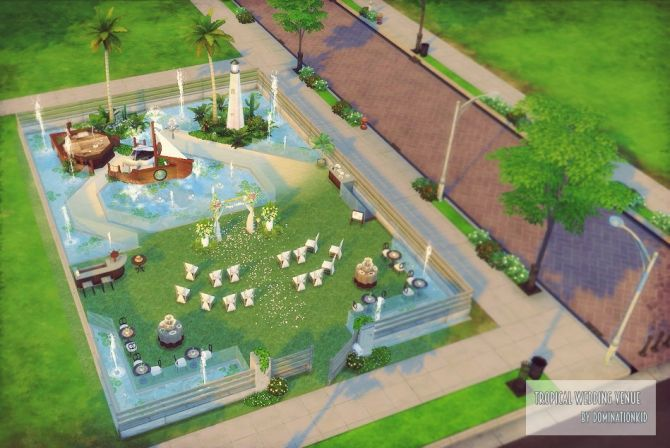 Tropical Wedding Venue at Dominationkid • Sims 4 Updates ...