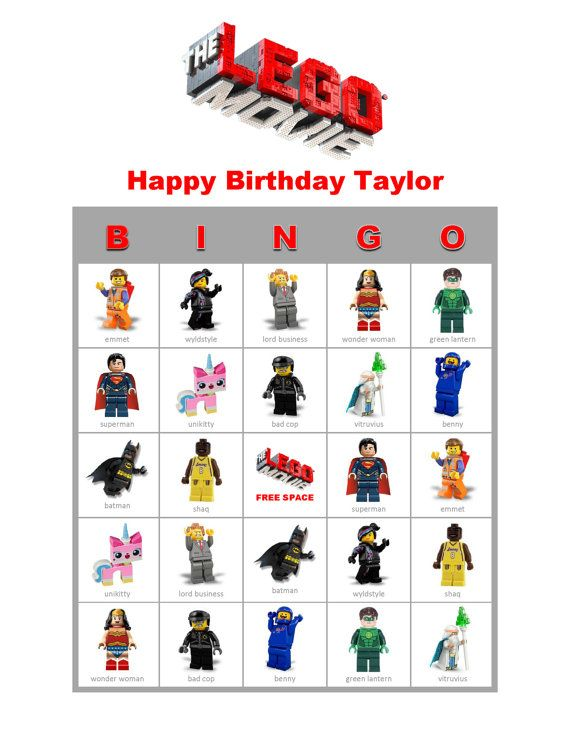 Any Themed Bingo Personalized Birthday Party Or Event Game Activity