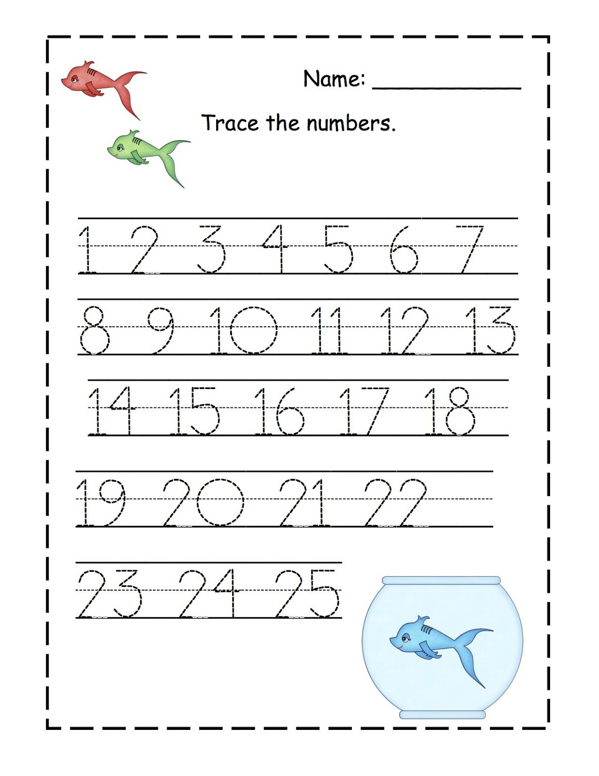 Traceable Numbers 1 10 For Kindergarten Kids