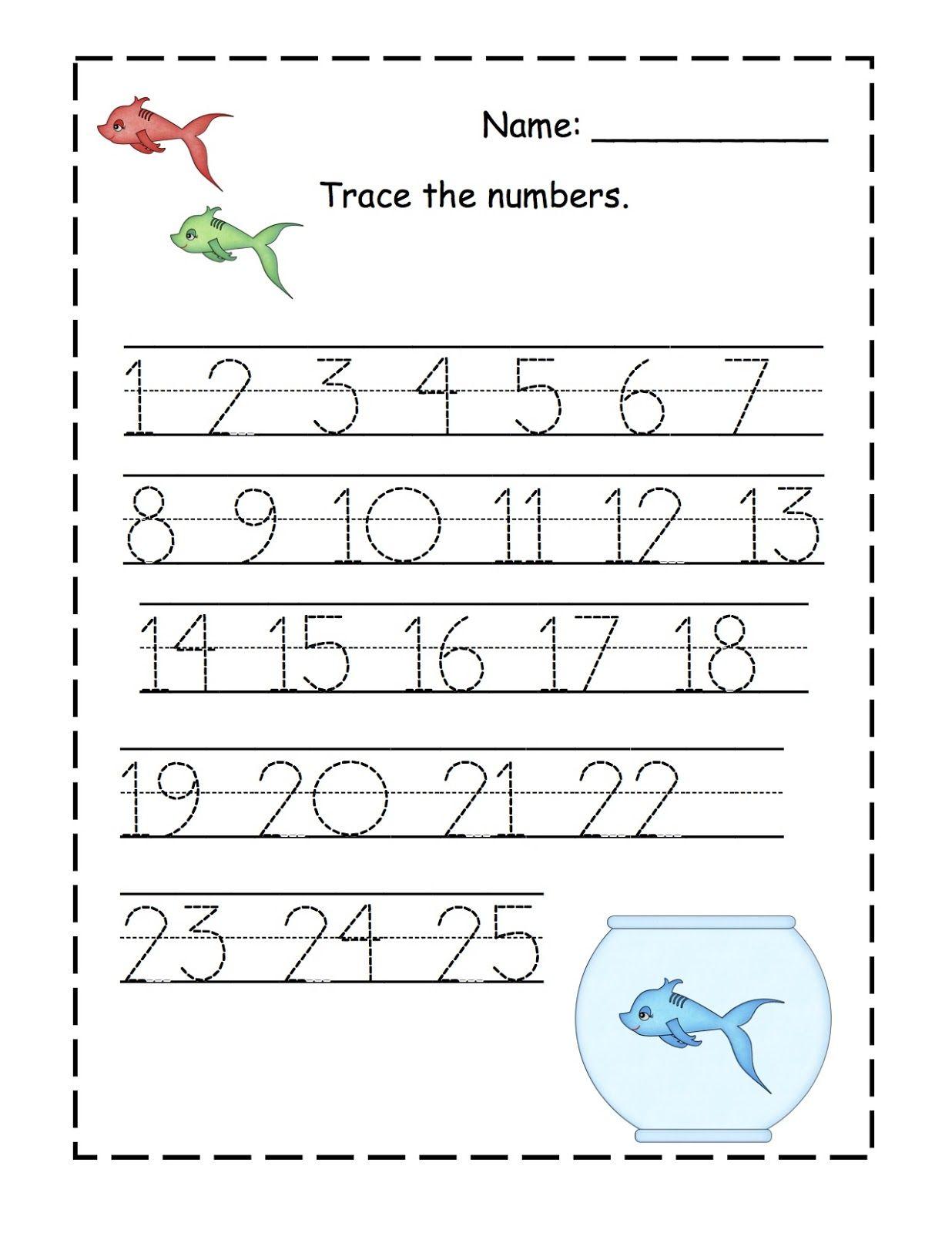 Traceable Numbers 1-10 For Kindergarten Kids. | Kiddo Shelter ...