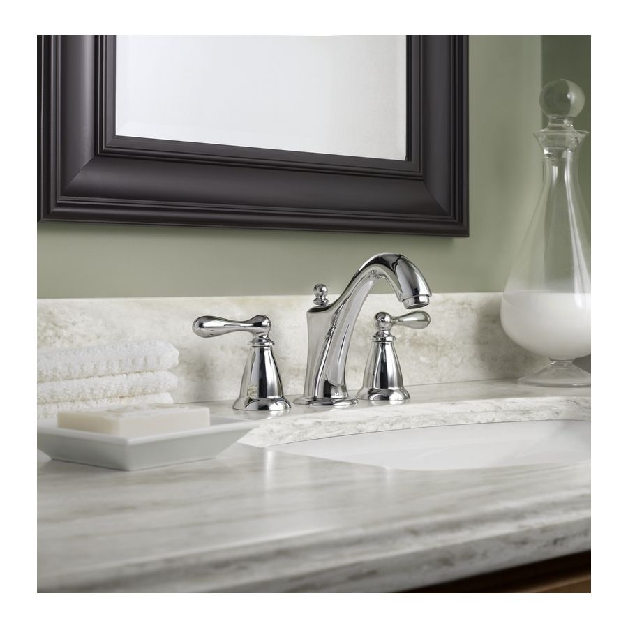 Shop Moen Caldwell Chrome 2 Handle Widespread Watersense Bathroom Faucet Drain Included At Lowes Com Bathroom Faucets High Arc Bathroom Faucet Sink Faucets [ 900 x 900 Pixel ]