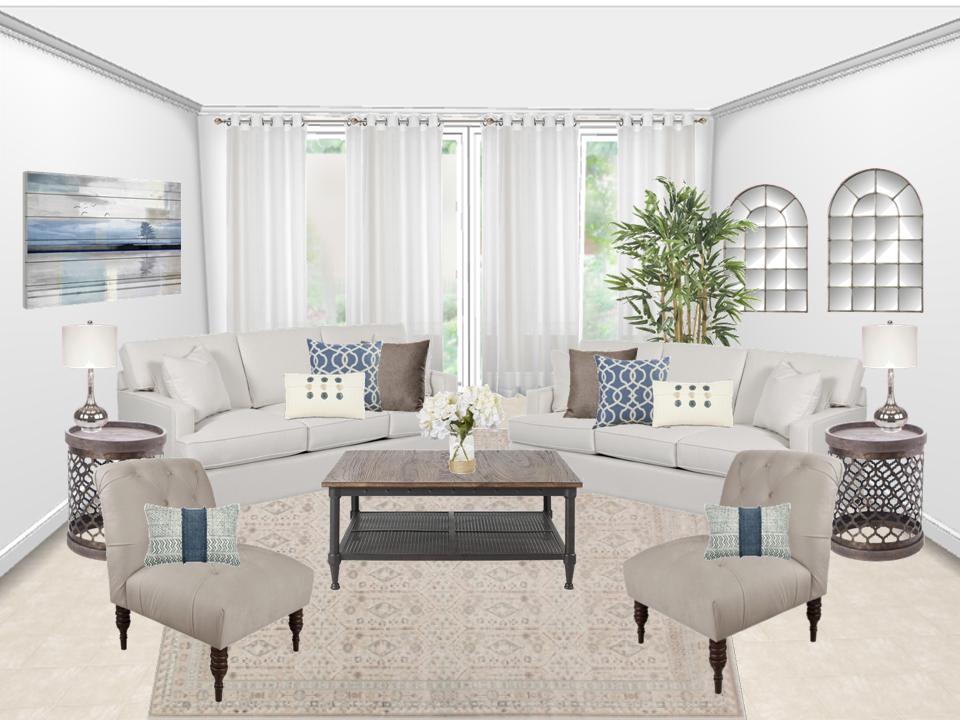 coastal glam living room concept boards from laurel wolf glam rh pinterest co uk