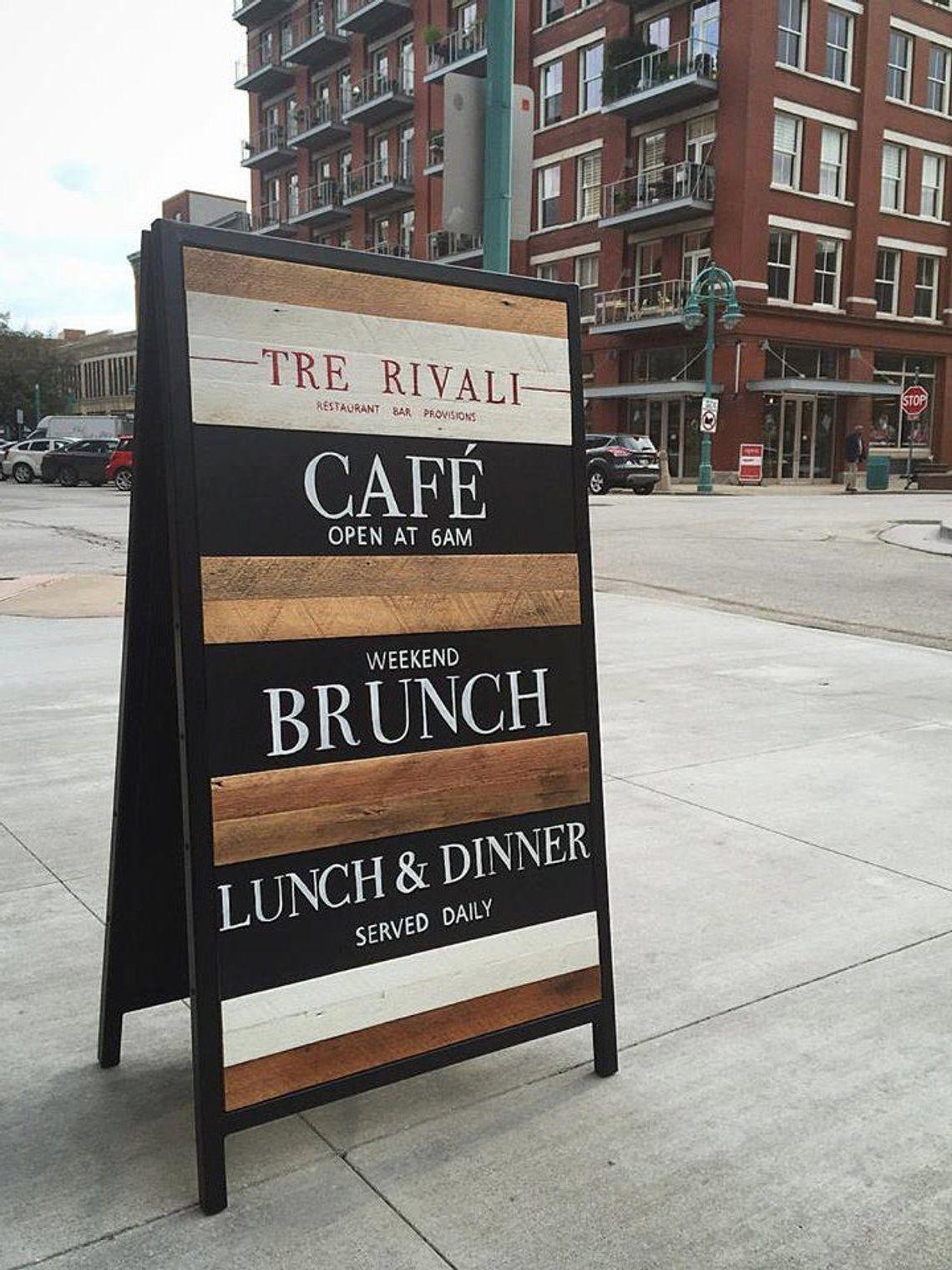 Custom Sandwich Board Sign Reclaimed Wood Event
