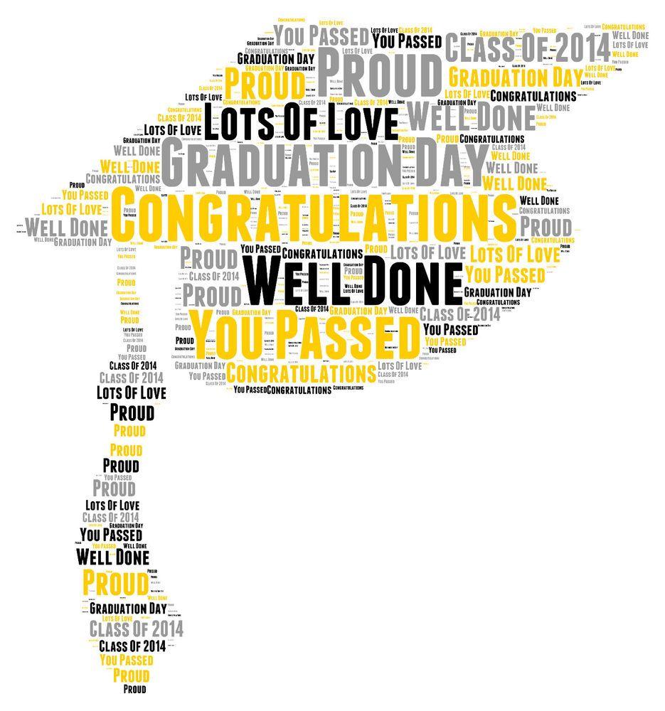 Graduation words, Word art and Graduation on Pinterest  |Word Art For Graduation