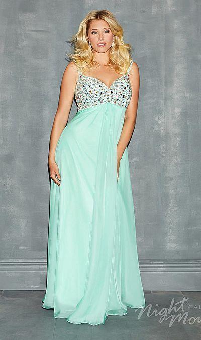 606949b02eb Night Moves Plus Size 7136W Empire Evening Dress image