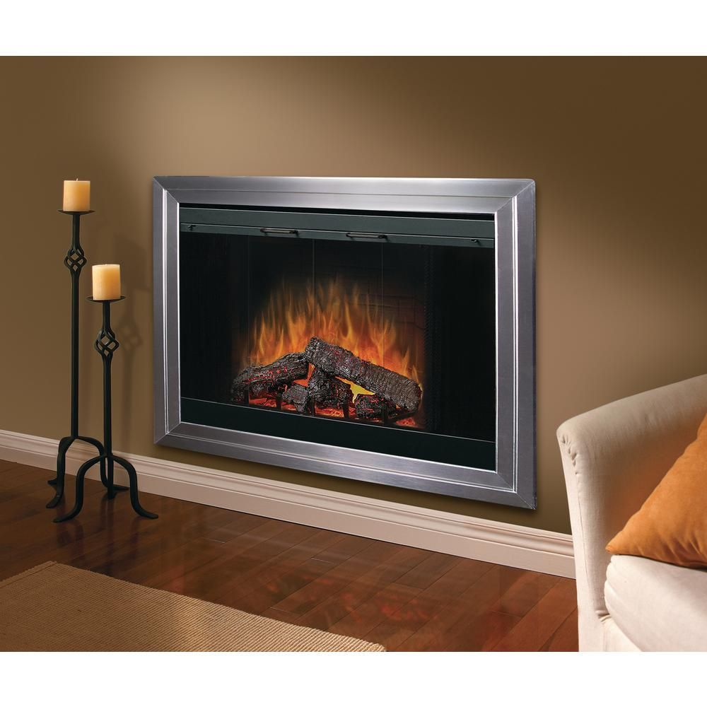 Dimplex 45 In Built In Electric Fireplace Insert With Brick