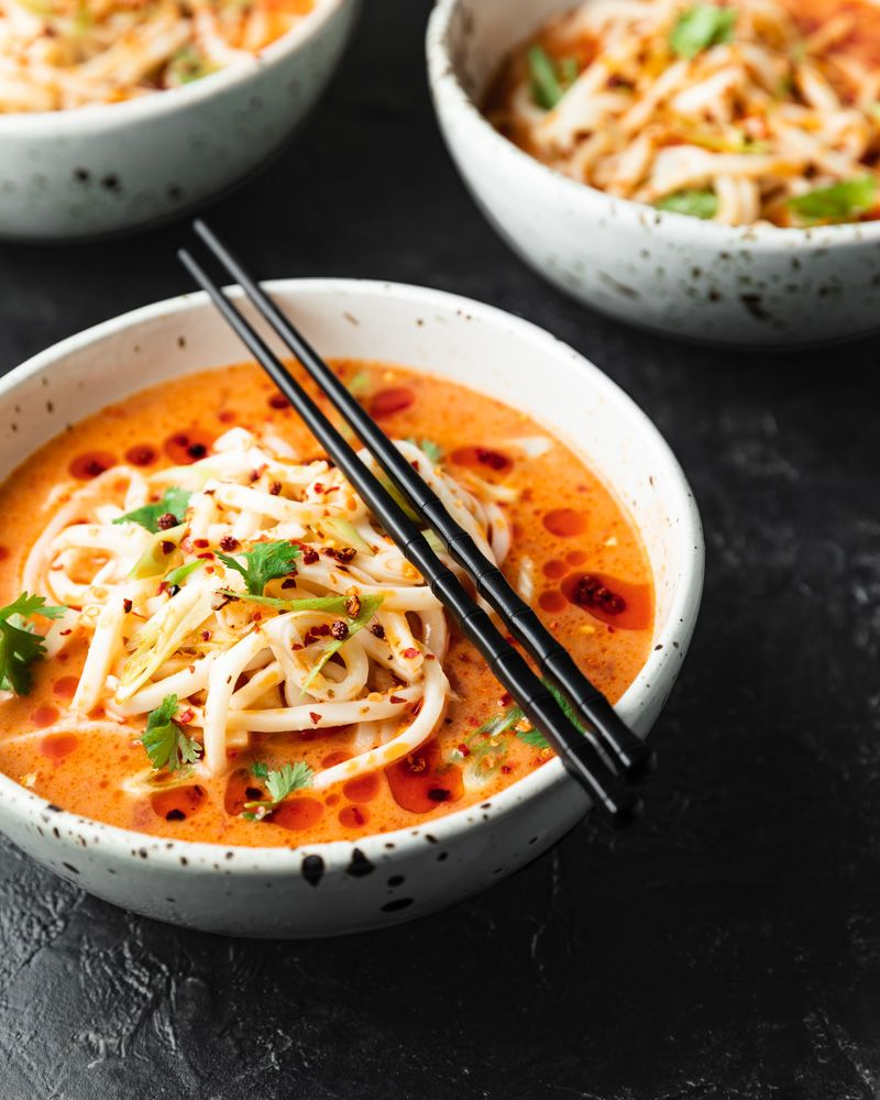Spicy Udon Noodle Soup Quick Vegan Meal Sprouts And Krauts Recipe In 2020 Udon Soup Recipe Udon Noodles Recipe Vegetarian Udon Noodles
