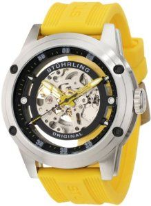 Buy Stuhrling Original Men's 314R.3316G65 Leisure Zeppelin 360 Automatic Skeleton Yellow Rubber Strap Watch Special Prices - http://greatcompareshop.com/buy-stuhrling-original-mens-314r-3316g65-leisure-zeppelin-360-automatic-skeleton-yellow-rubber-strap-watch-special-prices