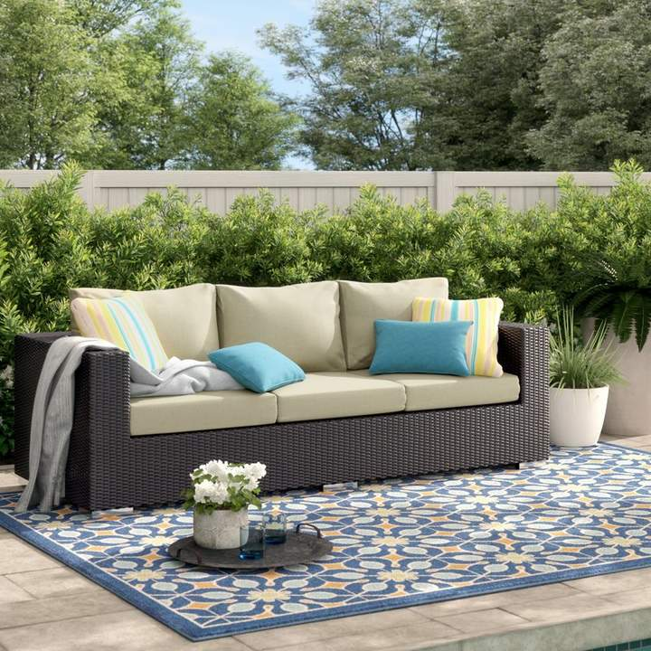 sol 72 outdoor brentwood patio sofa with cushions in 2019 products rh pinterest com