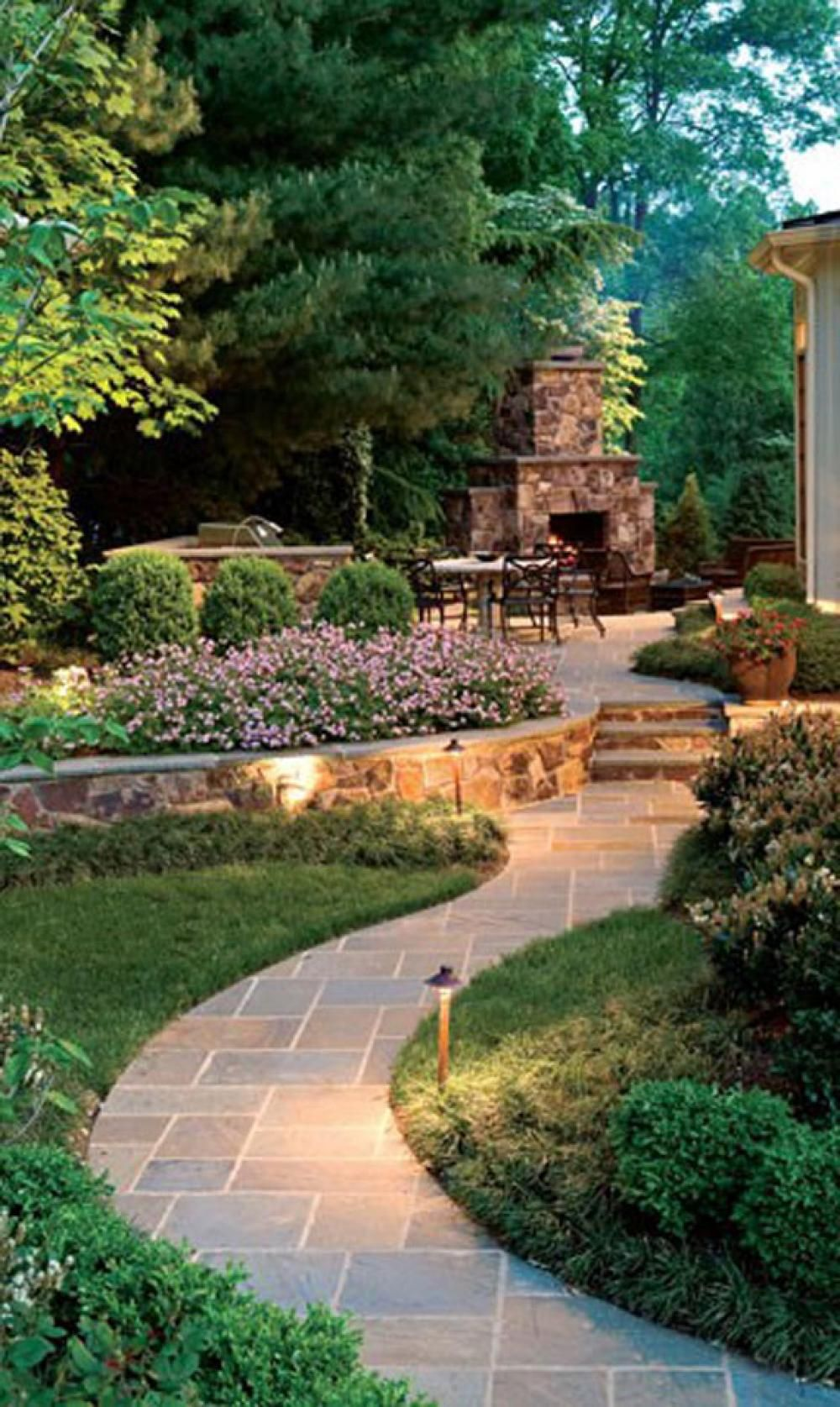 Romantic Garden Design With Pathways Contemporary