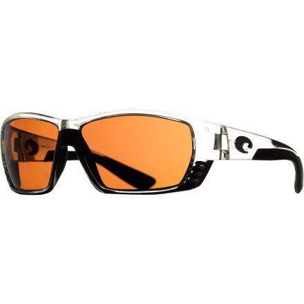 Costa Del Mar Tuna Alley Polarized Sunglasses - Costa 580 Polycarbonate Lens Crystal/Copper, One Size Costa Del Mar. $168.95