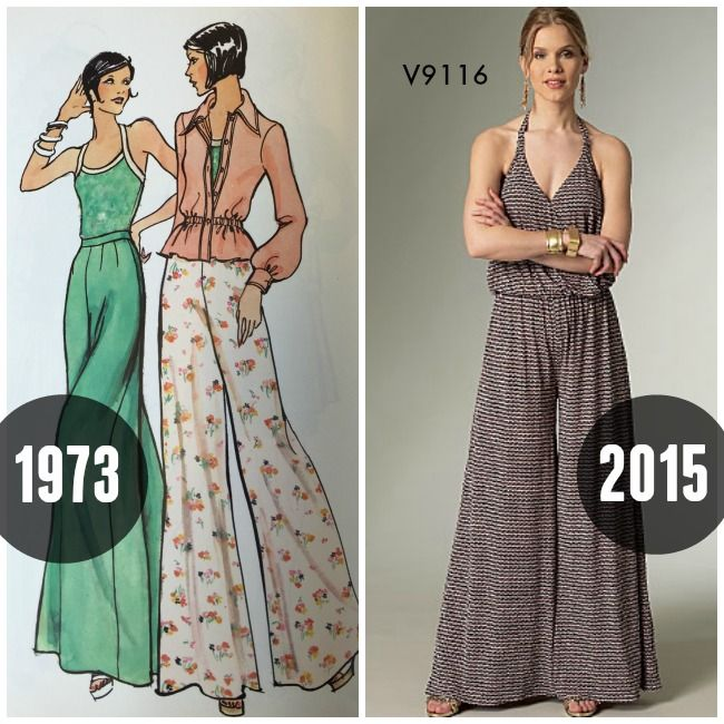 Seventies sewing patterns then and now on the McCall Pattern Company blog.  The wider the fc263489a