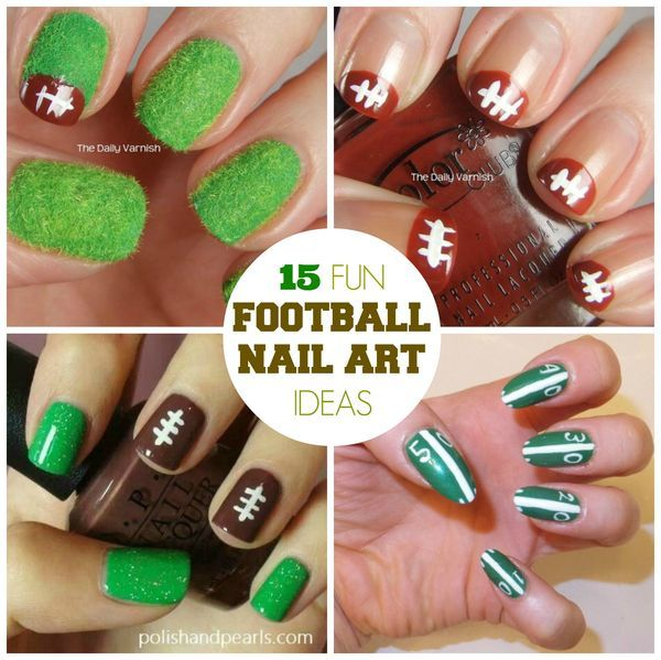 15 Fun Football Nail Art Designs Football Nail Art And Football Nails