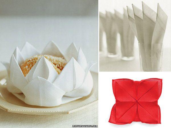Formas de doblar servilletas decoracion pinterest for Decoracion de servilletas