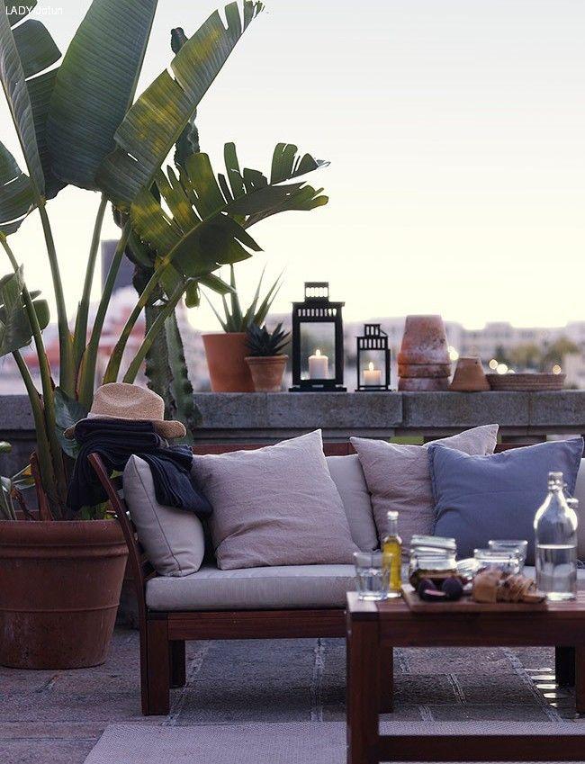 terrassetrender 2016 sofa ikea landscape terrace garden ikea rh pinterest com