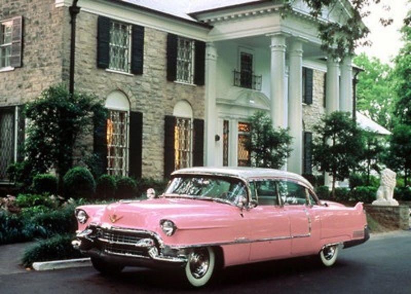 elvis s mother glady s 1956 cadillac sedan deville when new parked rh pinterest com