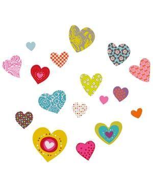 Die kunterbunten HerzchenWandsticker von SérieGolo