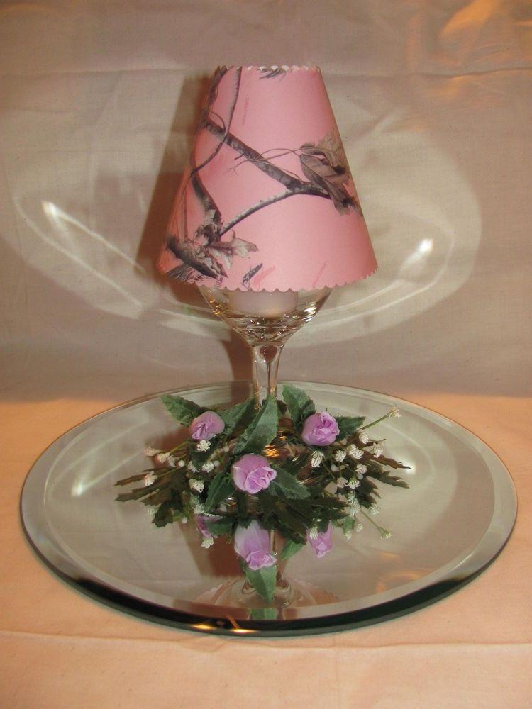12 NEW PINK CAMO WINE GLASS LAMP SHADE WEDDING CENTERPIECE PARTY DECORATION in Home & Garden, Wedding Supplies, Venue Decorations | eBay