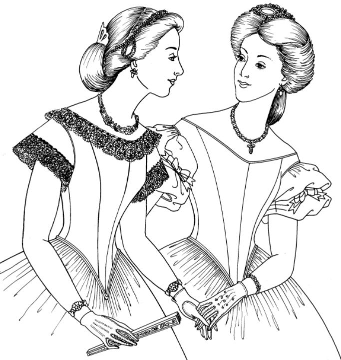 Past Patterns: #704: 1860s Ball Gown Bodice - I like how this ball gown bodice is a bit more on the shoulder