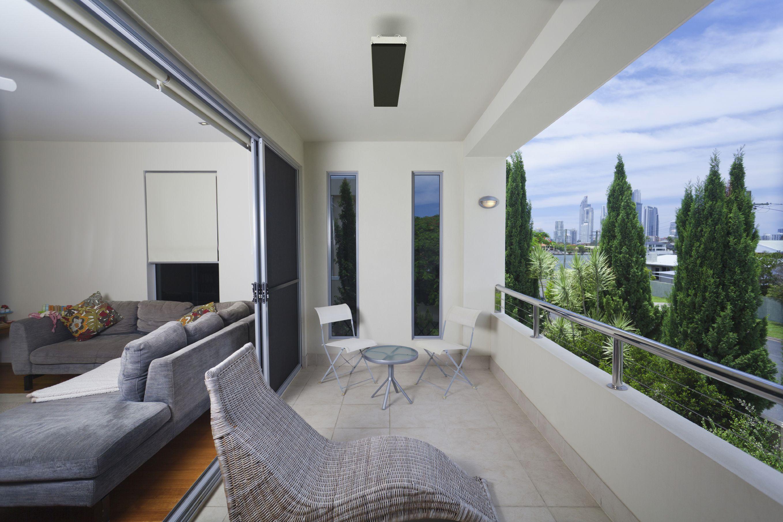 balcony with patio heater outdoor heater Heatstrip heater