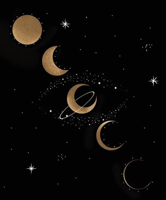 Moon Phases Art Print   Moon phases art, Celestial art, Star art