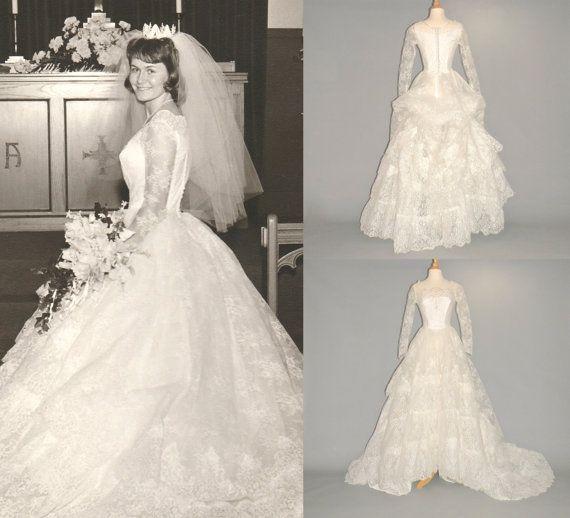 c8039b57d29 HOLD for CRISTINA Vintage 1960s Wedding Dress