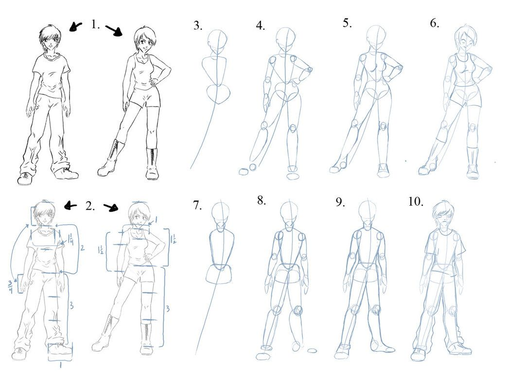 Figure Tutorial by manic-goose | Drawing Figures | Pinterest ...