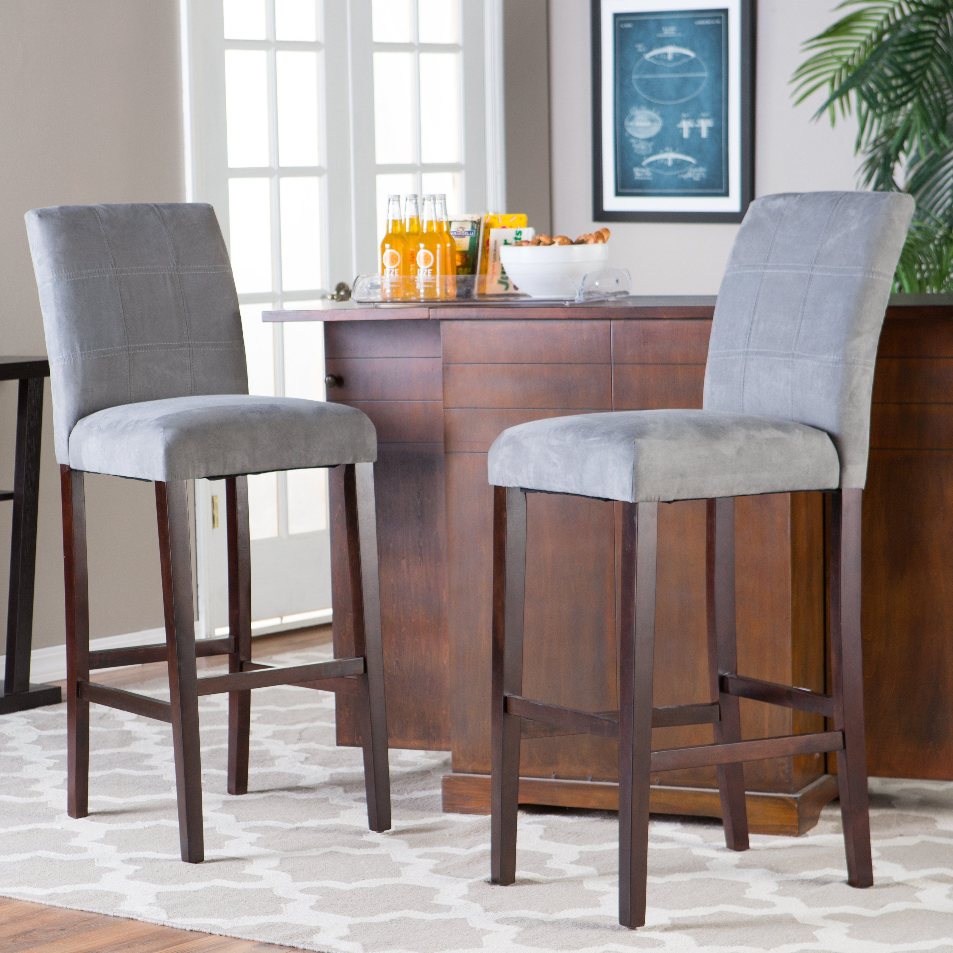 Palazzo Extra Tall Barstool - Grey - Set of 2 - Just right for ...