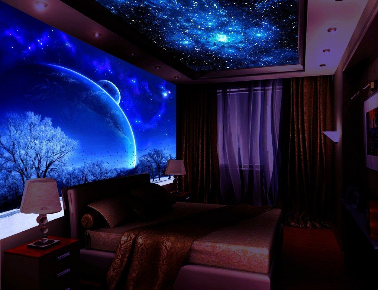 glow in the dark paint his room pinterest. Black Bedroom Furniture Sets. Home Design Ideas