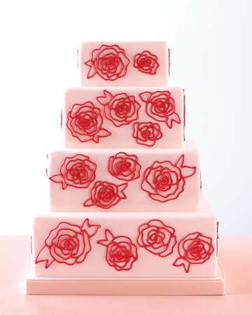 Rose-piped wedding cake #brownie #confectionery