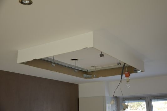 installation faux plafond Int design Pinterest Drywall