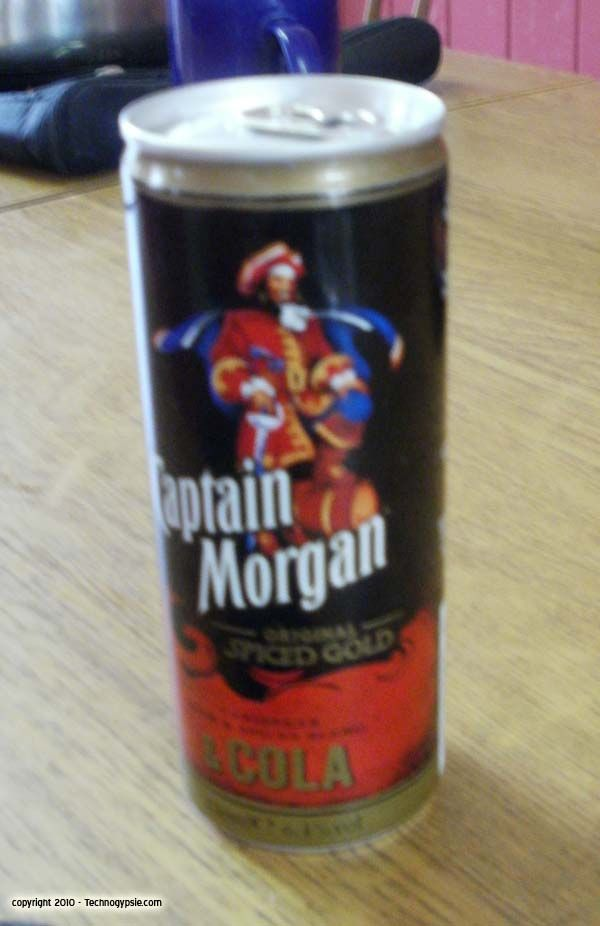 Captain Morgan And Cola In A Can Alcoholic Drinks Games Captain Morgan Bar Drinks