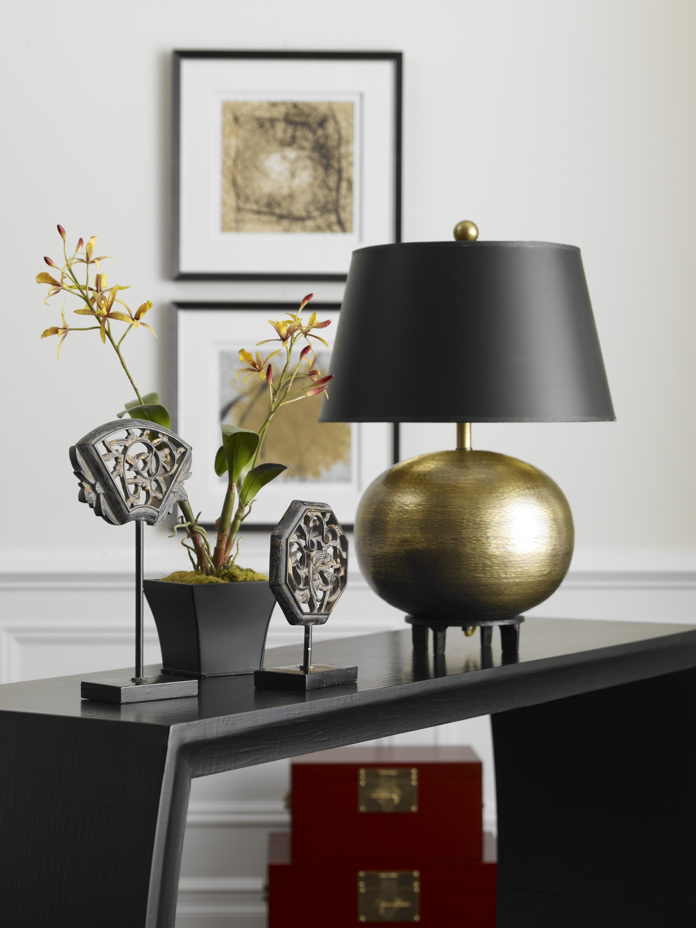 introducing our shining star the hammered sphere table lamp finished rh pinterest com