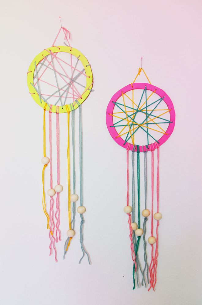 Camp Home Cardboard Dream Catchers Make Pinterest Dream Unique Making Dream Catchers With Kids