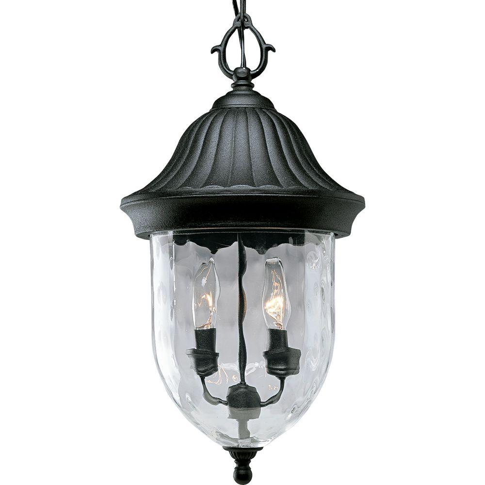 Coventry Collection 2 Light Textured Black Outdoor Hanging Lantern Outdoor Pendant Lighting Outdoor Hanging Lanterns Outdoor Hanging Lights