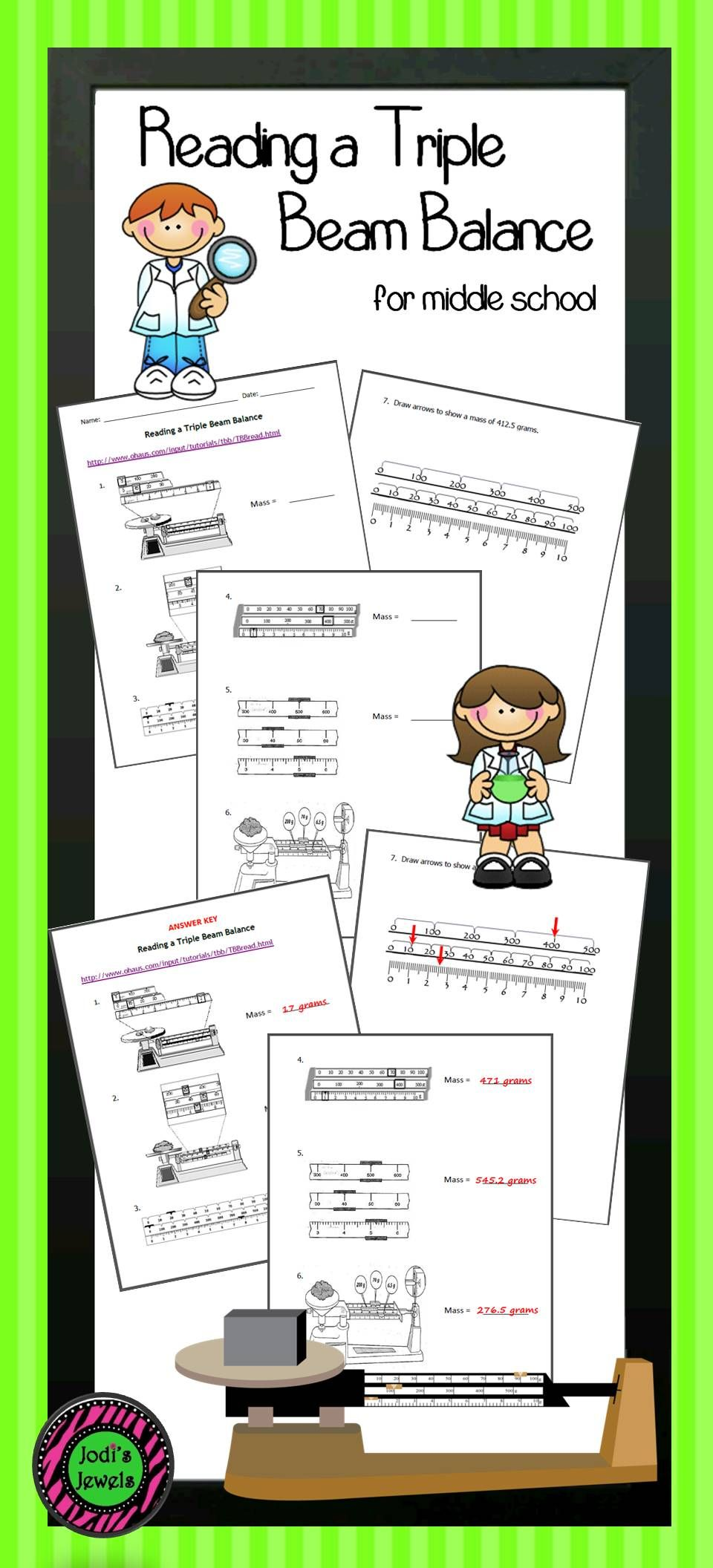 worksheet Reading A Triple Beam Balance Worksheet reading a triple beam balance worksheets and students