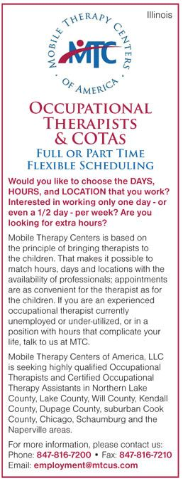 Occupational Therapists and COTAs job in Illinois Mobile Therapy