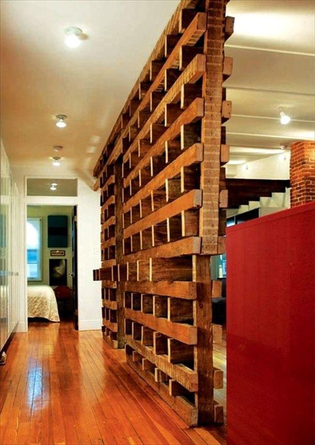 wooden pallet wood divider reliquaire pallet room pallet walls rh pinterest com au
