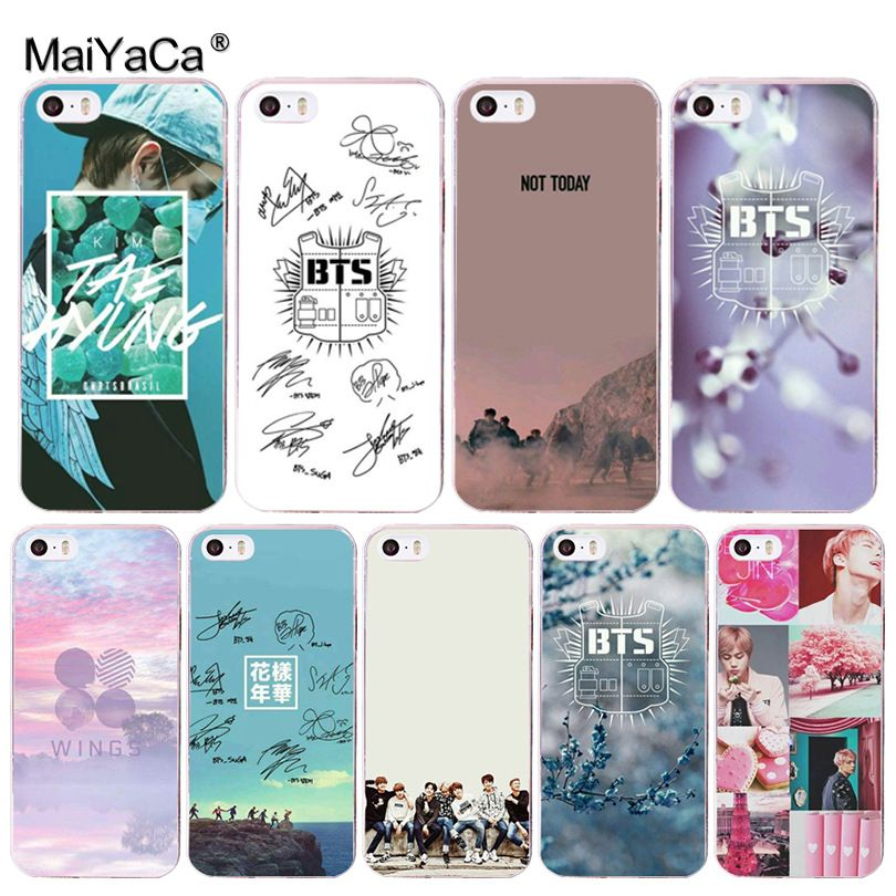 MaiYaCa bts Band Flower Floral Transparent Cover Phone Case for Apple iPhone  8 7 6 6S Plus X 5 5S SE 5C 4 4S Cover. Yesterday s price  US  2.59 (2.14  EUR). 02bbb48ee04