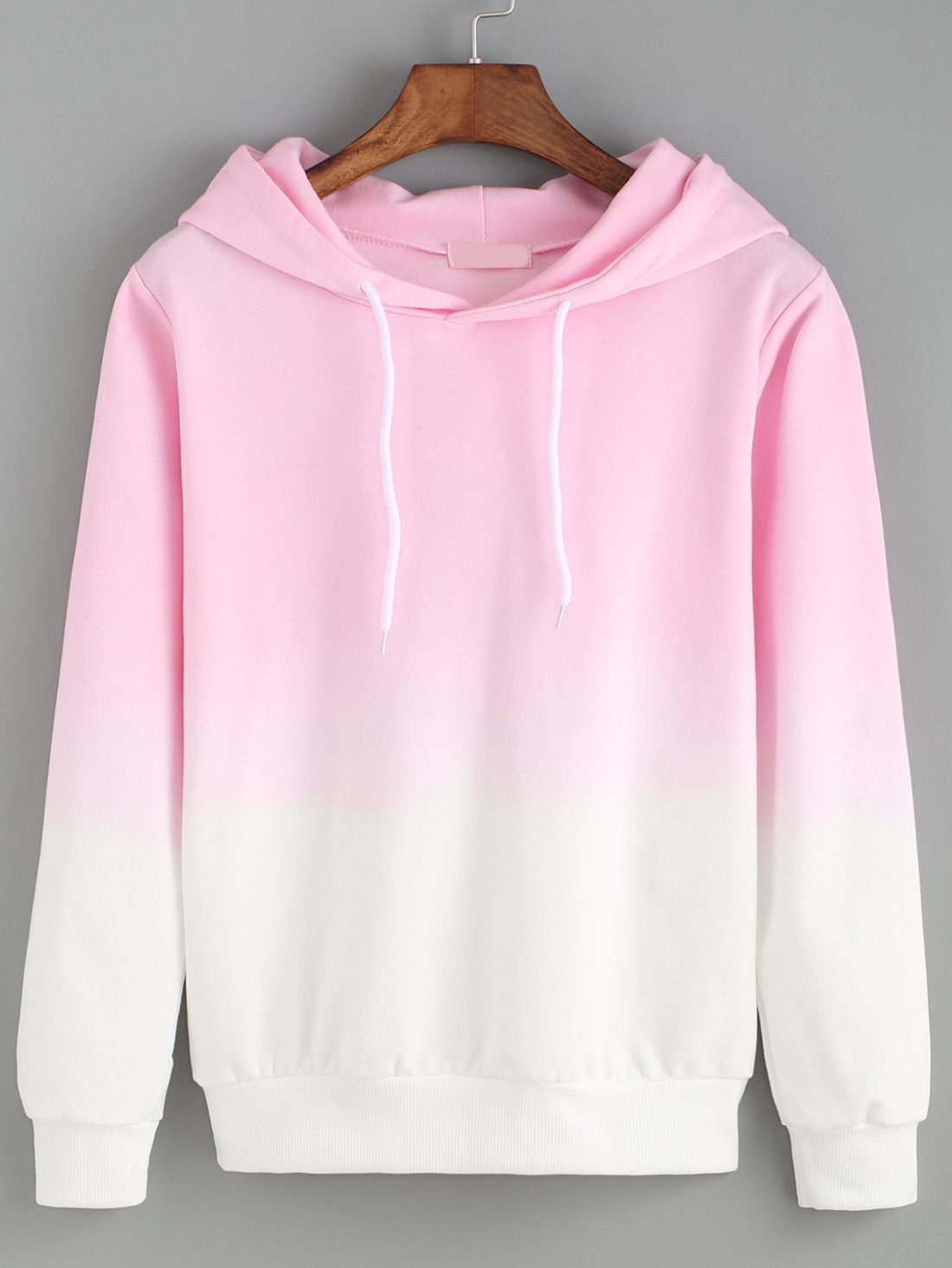 6a1790d37b0b So creazy ! Just love ombre style so much ! This pink hoodie ...