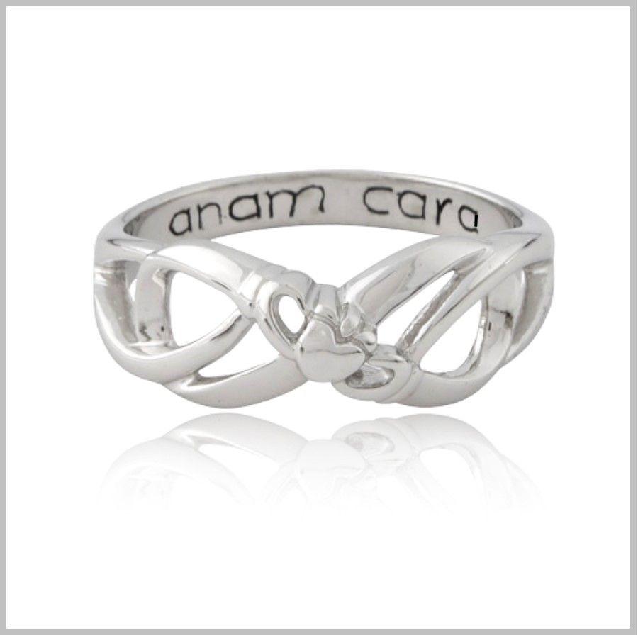 Claddagh Infinity Ring Irish Jewelry Blue Rings Gold