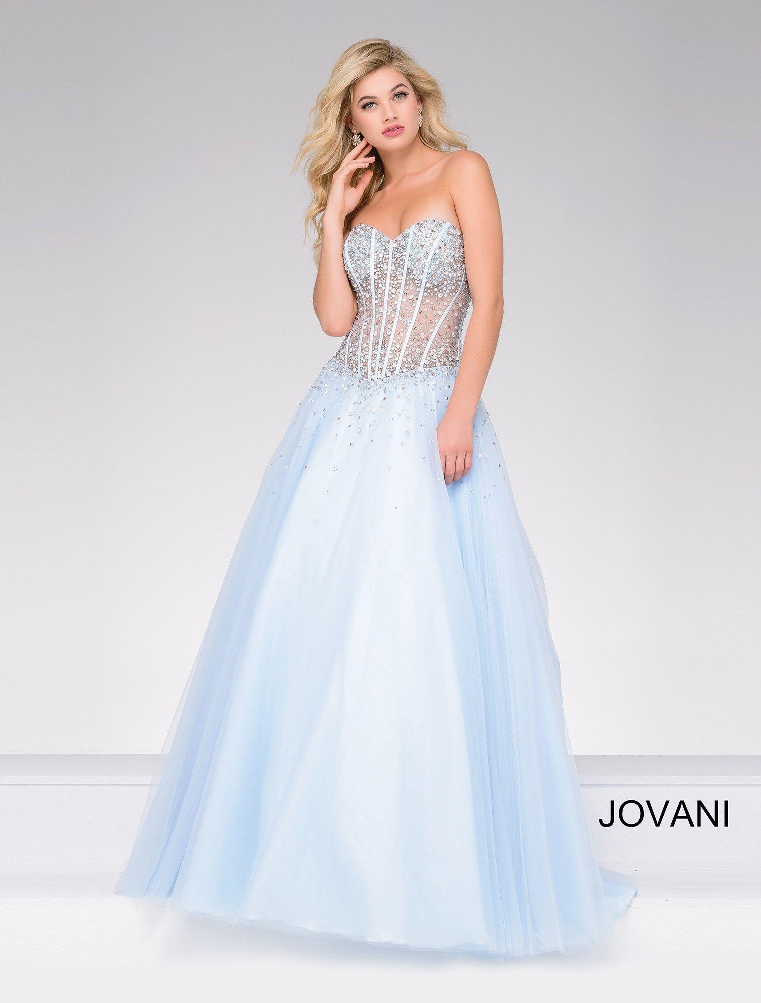 2052672d3163 Jovani 47131 Jeweled Illusion Corset Ball Gown | 2017 Prom Dresses ...