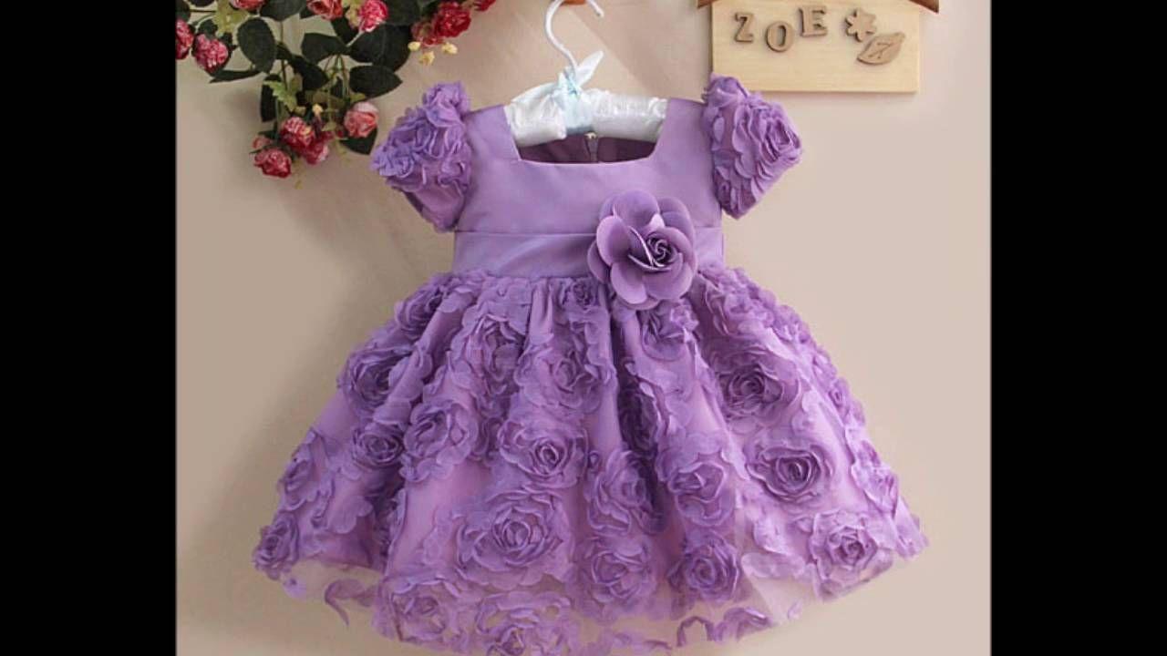 Vestidos de fiesta para niñas en tonos del lila al violeta, Video 1 ...