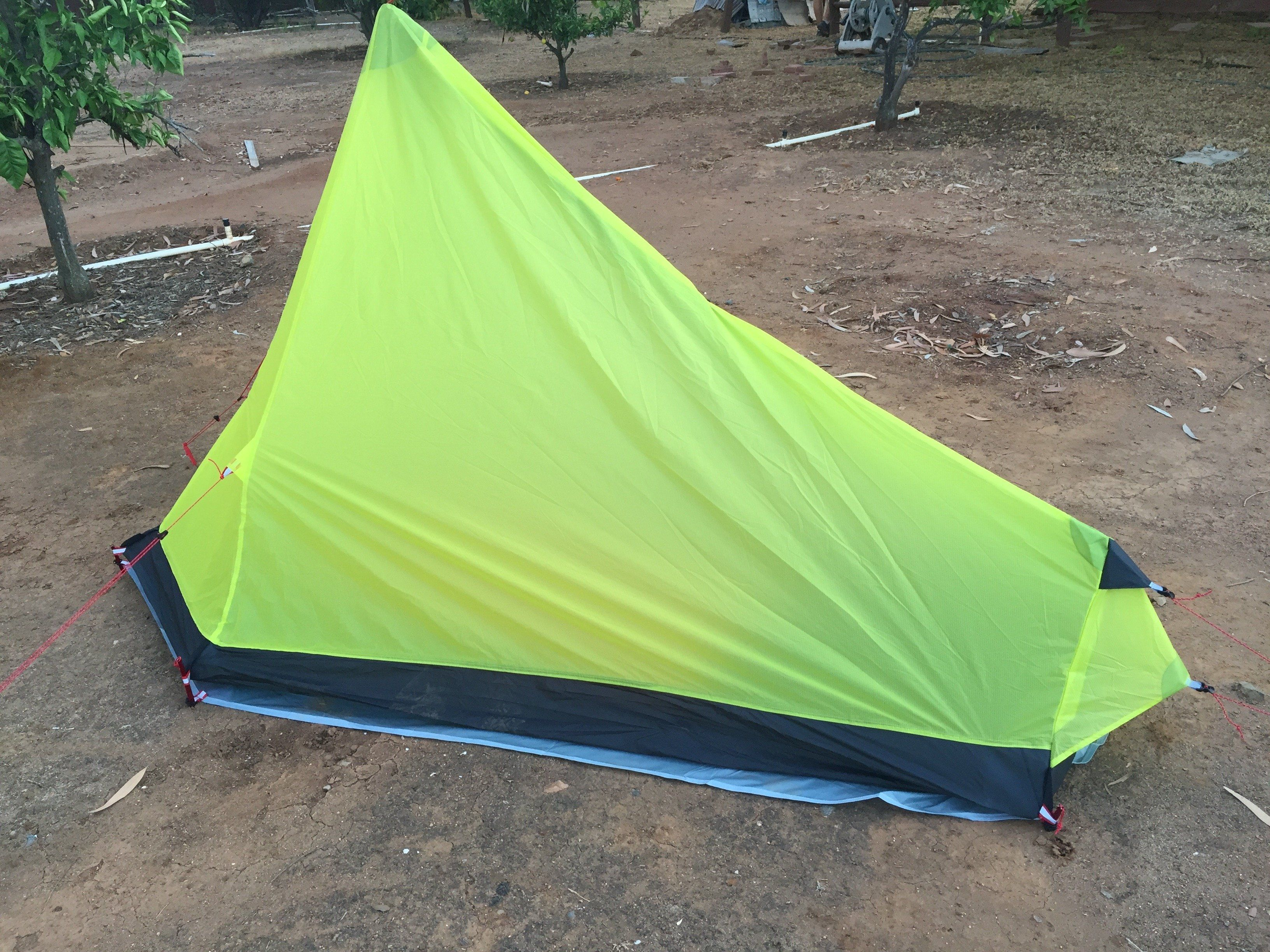 Backpack tent · 1 layer tent. The inner (mesh tent) is sewed with the rainfly. & 1 person 3 season Ultralight Silnylon Backpacking Tent | Tents and ...