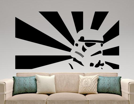 Stormtrooper Sticker Star Wars Wall Decal Movie Design Art Etsy In 2021 Star Wars Wallpaper Star Wars Stencil Star Wars Wall Decal