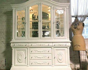 Französisch Bett bemalt Cottage Shabby Chic romantische