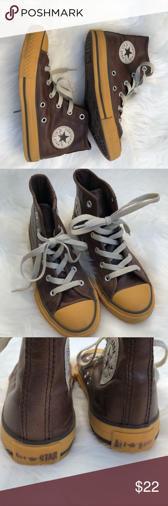 ca5c256d8395 Converse Brown Leather Boys size 1 Beautiful unique leather converse this  style is very rare and
