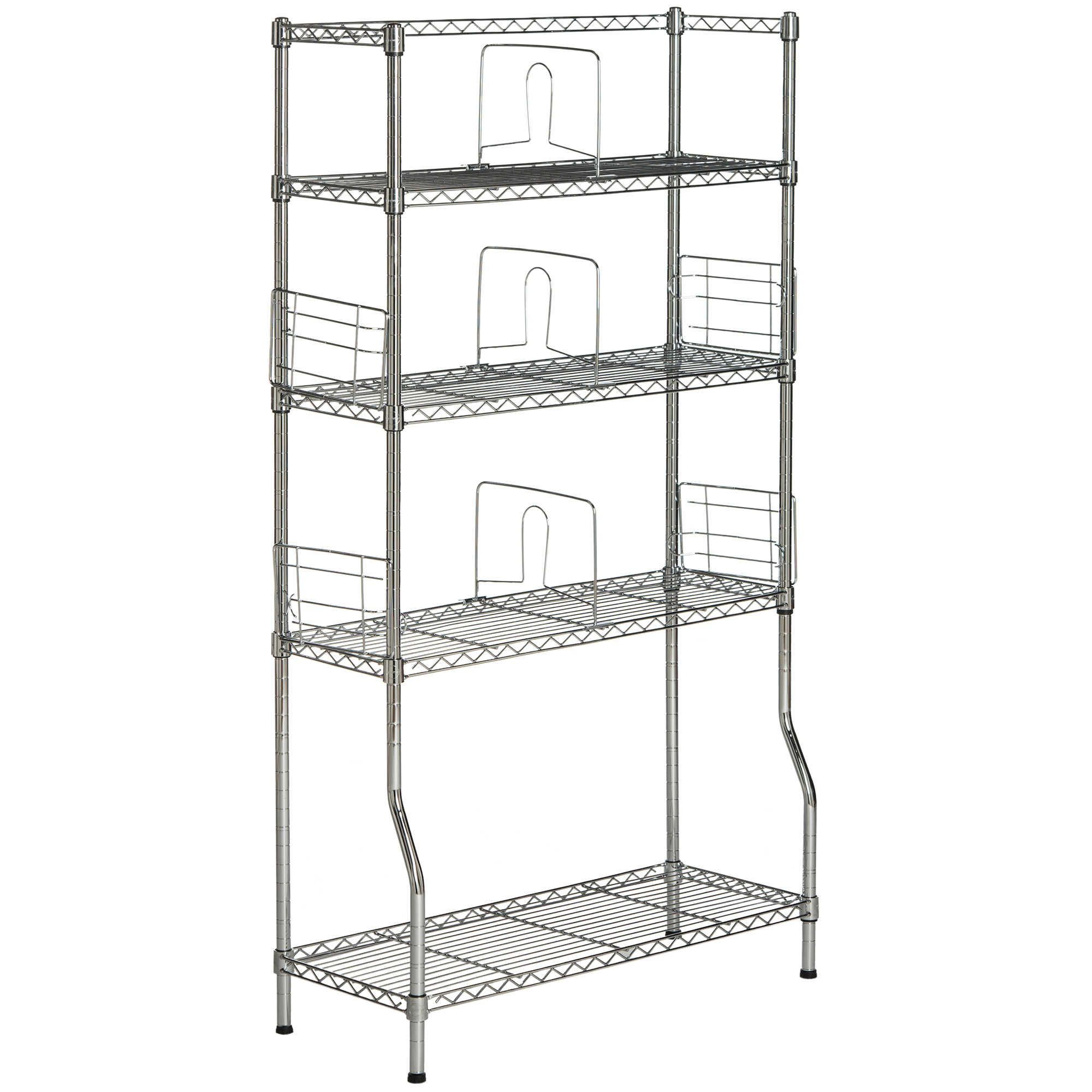 safavieh fernand chrome wire book rack in chrome